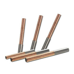 Tungsten Copper Round Rod Metric M3-m10 Threaded Electrode Electrode Anode Diy