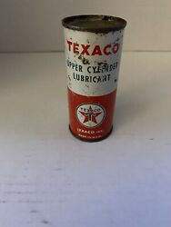 Vintage Texaco Upper Cylinder Lubricant 4 Oz Can Unopened Full