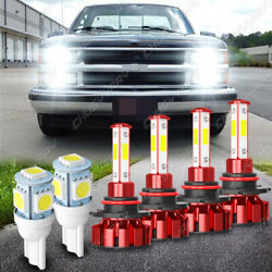 For Chevy C1500 1988-1999 4x 9005 And 9006 Combo Led Headlight Bulbs High/low Beam