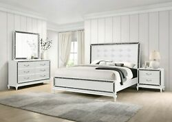 New Classic Furniture Park Imperial White Glam Queen 6 Piece Bedroom Set