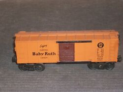 Lionel X2454 Baby Ruth Box Car. A Prr Short And Sweet Choice For Any Railroad.