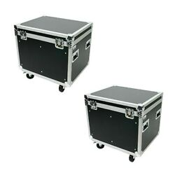 2 Ata Road Case Utility Case Trunk 30 Inch Caster Wheels - Rubber Lined