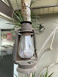 Antique Vintage Dietz Junior Wagon Lamp Lantern With Red Tail Light Lens