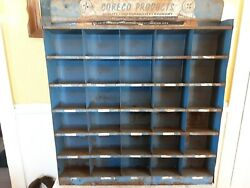 Vtg Coreco Products Advertising Tin Store Display Rare
