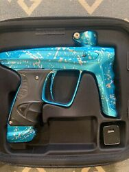 Dlx Luxe X Teal Splash Paintball Marker Very Low Shot Count Practically New