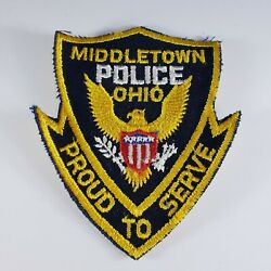 Collector's Middletown Police Ohio 2nd Issue Shoulder Patch Cheese Cloth