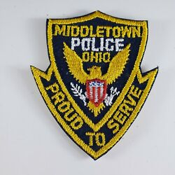 Middletown Police Ohio Proud To Serve Embroidered Small Patch