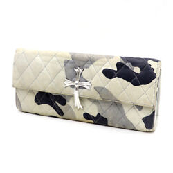 Chrome Hearts Chromehearts Dinner Clutch Bag Quilted Leather Large Cross _87450