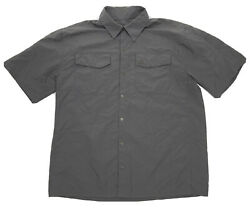 5.11 Tactical Series Mens Snap Button Shirt Short Sleeve Vented Polyester Large
