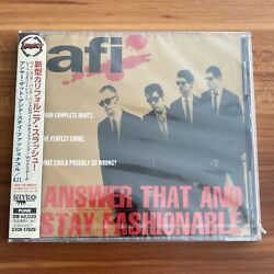 Very Rare Afi Japan Sample Promo Cd Answer That And Stay Fashionable Obi A.f.i.