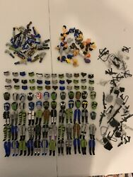 Huge Gi Joe Body Parts And Accessories Lot Red Laser