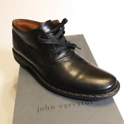 John Varvatos Hand Made In Italy Mens Shoes Size 9 Black Chucka Heritage Oxford