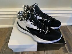 Nike Jordan Zion 1 Pf Basketball Shoes Black White Sz 11 In Hand Pre-owned
