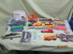 Tyco Trains, Cars, Tracks, And Accessories Large Lot- Vintage