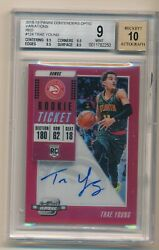 Trae Young 2018-19 Red Optic Contenders /99 Bgs 9 Auto 10 Autograph Rookie Rc