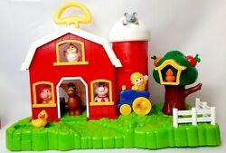 Childrens Toy Barn With Farm Animals Toy Set With Animal Sounds