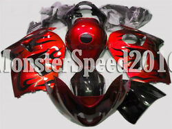 Injection Red Black Fairing Kit Fit For Suzuki Gsx-r 1300 Hayabusa 1997-2007 Aay