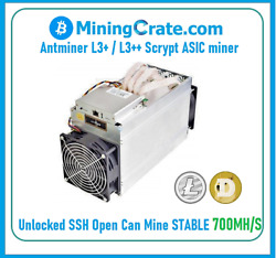 Antminer L3+ Unlocked 🔥700mh/s🔥 Usa Seller Doge And Ltc Miner Only No Psu