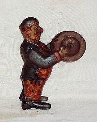 Cymbal Player Tinplate Toy 1900 Made In Germany Vintage German Windup Pre-war