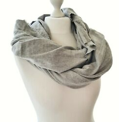 Zara Womens Grey Knit Scarf Accessoire Voluminous Elegant Cold Protection Comfy