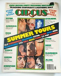 Circus Magazine July 1976. Summer Tours Cover Elton Queen Kiss Vintage Rare