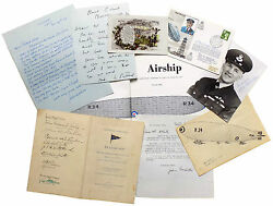 Patrick Abbott. Airship. The Story Of R.34 With Signed Ephemera And Archive.