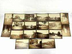 19 Cabinet Card Photos Of One Wealthy Family Homestead Dogs Horse Barn 1890's