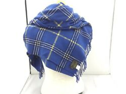 Louis Vuitton Stall Wool 100 Blue Check Special Women 's Woman _1042