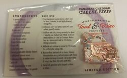 New Disney Epcot Food And Wine Festival 2015 Recipe Card Cheddar Cheese Soup Remy