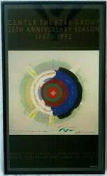 Kenneth Noland Signed Exhibition Poster Mark Taper Forum Los Angeles
