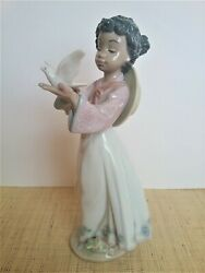 Sale- Was 325 Lladro African Love African Black Legacy Girl Dove Extremely Rare