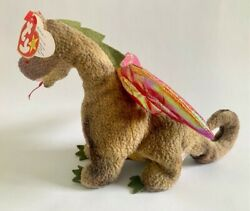 Ty Beanie Baby Scorch The Dragon 1998 - Stunning Colors On Wings