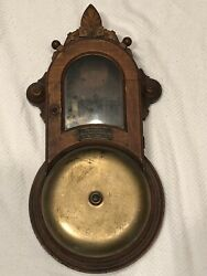 Vintage Gamewell Feathertop Fire Alarm Box Wood Telegraph Co. New York