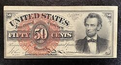 1863 Us 50 Fifty Cents Fractional Currency Fourth Issue 50c Fr 1374