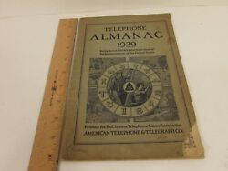 Vtg Almanac 1939 Bell System Telephone American Telephone And Telegraph Company