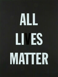 Hank Willis Thomas All Li Es Matter Limited Edition Print Signed And Numbered