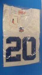 Nip Mitchell And Ness Throwback Jersey 20 Barry Sanders Detroit Lions Size M