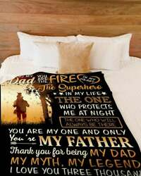 To My Dad My Myth My Legend Blankets Gift For Dad - Bed Sofa Blanket