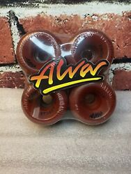 Alva And039street Bombs Red X4 Vintage Skateboard Wheels 1980andrsquos Old School Fat 63mm