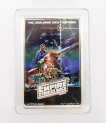 2017 Star Wars Empire Strikes 1 Ounce Pure Silver Coin Poster New Zealand Mint