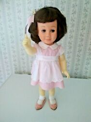 Vintage Original Mute 19 Chatty Cathy Doll Pink Peppermint Outfit Used