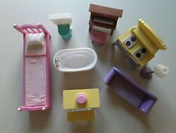 2012 Kidkraft Barbie Dollhouse Wooden Plastic Furniture Piano With Sound