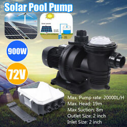 72v Dc Brushless Water Pump Solar Water Pump For Fountain Pool 20,000l/h 88gpm