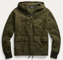 Rrl Men's Iconic Quilted Cotton Jersey Hoodie - Size M