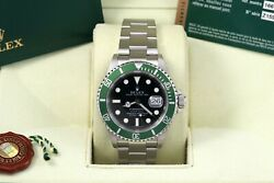 Rolex Submariner Green Kermit 50th Anniversary Box/papers/card 16610lv Z Serial