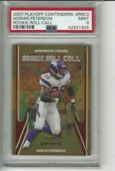 2007 Playoff Contenders Rookie Roll Call Adrian Peterson Rrc3 Minnesota Vikings