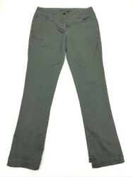 Theory Womenandrsquos Skinny Chino Pants Military Olive Green Stretch Cotton Andbull Size 6