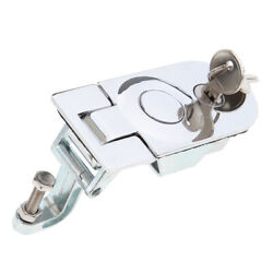 Stainless Steel Compression Flush Mount Push Locks Latch With Keys For Boat Rv