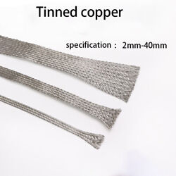 Copper Metal Shield Braided Mesh Sleeve-encrypted Pure Copper/tinned Copper