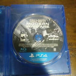 Call Of Duty Modern Warfare 2019 Playstation 4 Disc Only Ps4